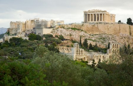 View of the Akropolis in Athens