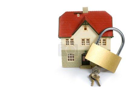 House locked with padlock