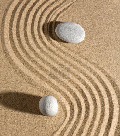 Photo pour Jardin de pierre dans un style zen - image libre de droit