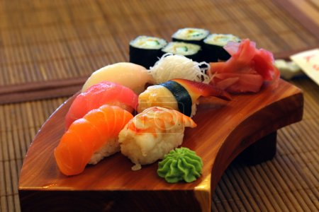 Interior and menu japanese restaurant