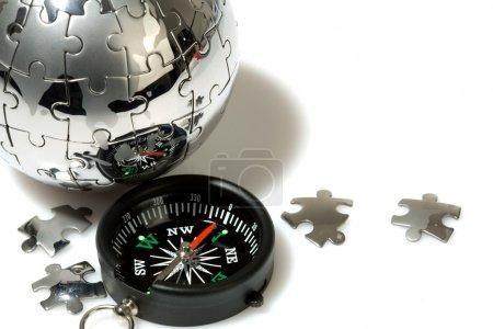 Photo pour Concept de tourisme mondial et de communication - image libre de droit