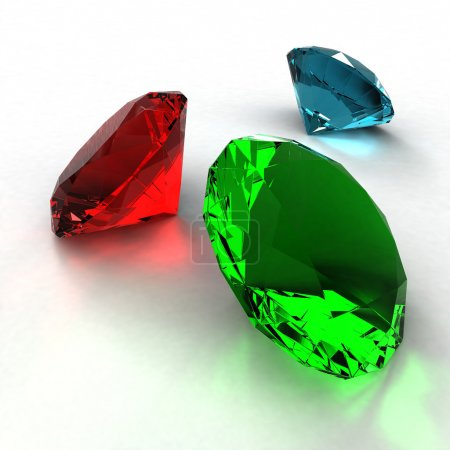 Diamond of three colors