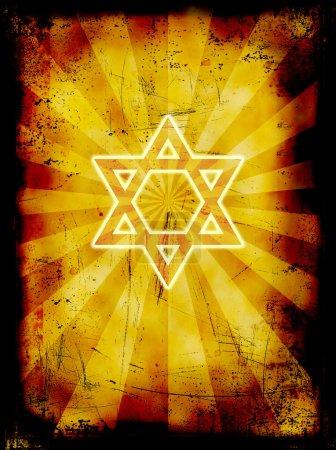 Photo pour Yom Kippour fond juif grunge - image libre de droit
