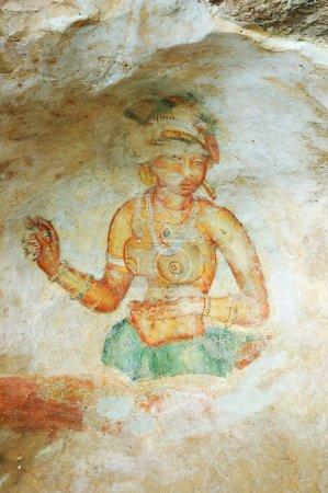 Wall painting in Sigiriya rock