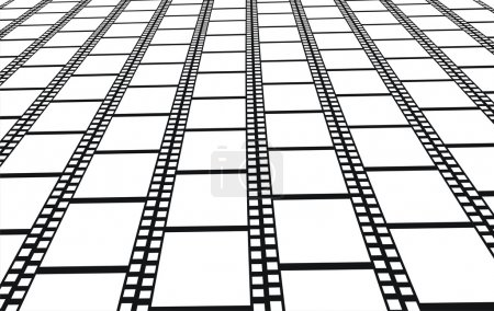 Perspective of filmstrips - background