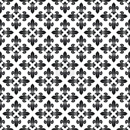 Seamless fleur-de-lis texture