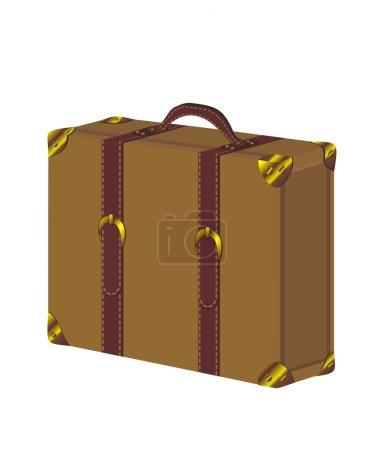 Illustration for Old vintage suitcase - Royalty Free Image