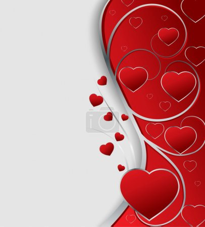 Illustration for Valentines greeting card, vector illustration - Royalty Free Image