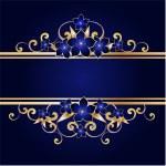 Golden floral frame, vector illustration...