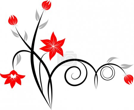 Illustration for Decorative branch - Royalty Free Image