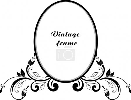 Illustration for Vintage decor for text - Royalty Free Image