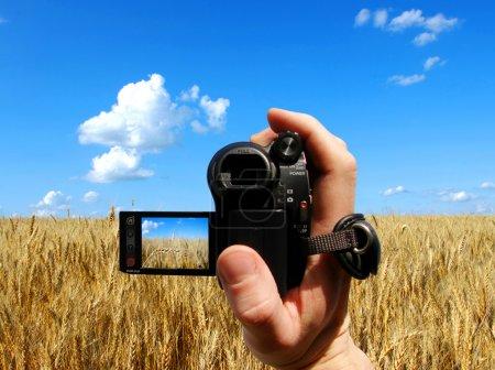 Man shooting film