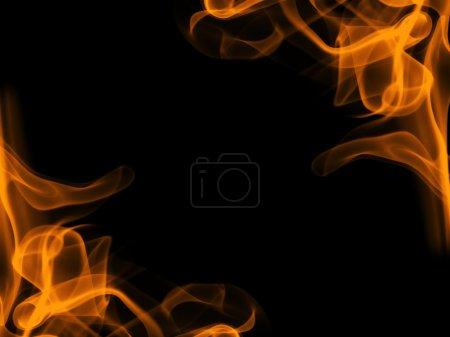 Foto de Alcance de la llama ardiente en negro - Imagen libre de derechos
