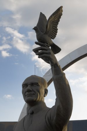 Monument of first President and founder of the Republic of Turkey. Ataturk - Mustafa Kemal