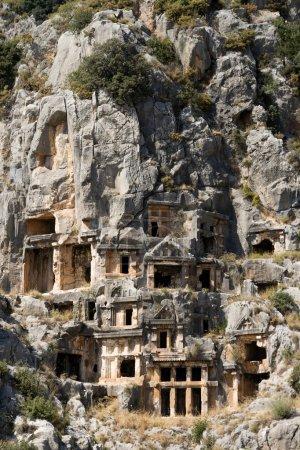 Lycian Rock-cut tombs in Myra (Demre), Turkey