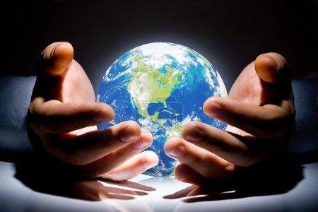 Photo for The Earth is in your hands - Royalty Free Image
