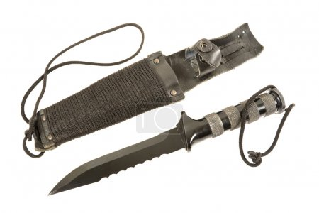 Photo for Russian Army knife and scabbard - Royalty Free Image