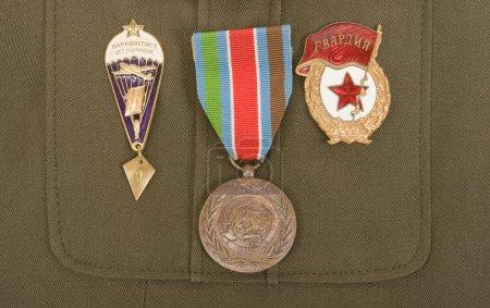 Photo pour Insignes militaires russes - image libre de droit