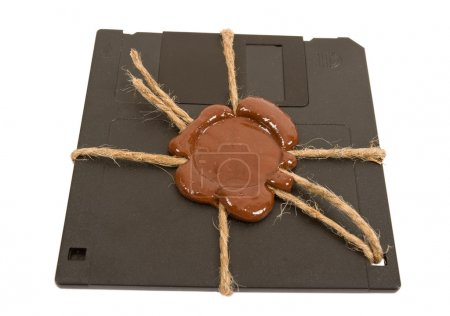 Top secret floppy disk on white background...