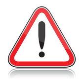 Red triangular dangers warning sign