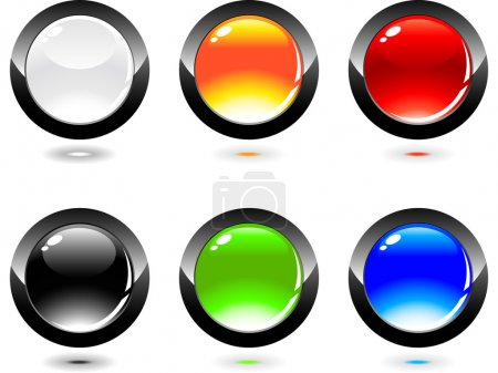 Illustration for Vector illustration contains the image of glossy button - Royalty Free Image