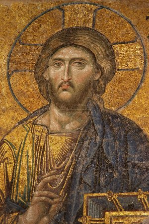 Mosaic of Jesus Christ at Hagia Sofia