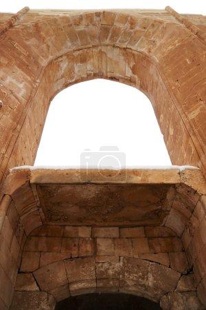 Photo pour Entrée de la cour intérieure d'ishak Pacha palace. C'est un complexe de 18ème siècle près du Mont ararat, dans le district de dogubayazit de la province d'agri de t - image libre de droit