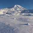 Mount Ararat, Agri Dagi, in winter. Panoramic imag...