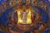 Jesus Christ mosaic in orthodox temple,