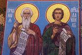 Mosaic icon in russian orthodox church,
