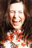 Beauty young woman scream