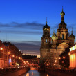 The Church of the Savior on Spilled Blood is one of the main sights of St. Petersburg, Russia.
