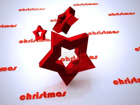 Photo for Christmas design of star - Royalty Free Image
