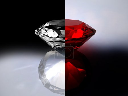 Abstraction from a brilliant and a ruby