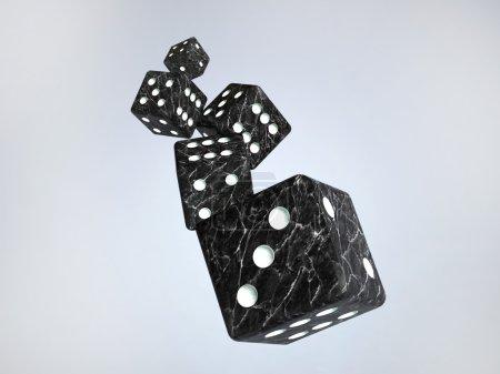Photo pour Jouant des os. l'image 3d d'os de marbre - image libre de droit
