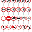 Road traffic different vector signs collection...