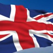 United Kingdom Flag waving on wind. Please see all...