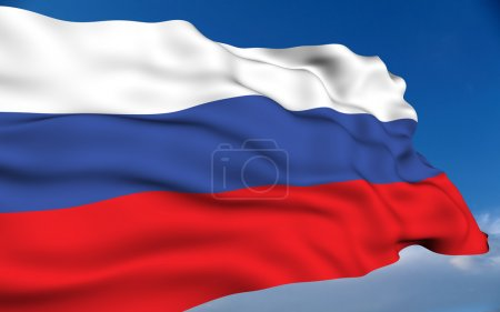 Photo for Russian flag waving on wind. Please see all series in my portfolio. - Royalty Free Image