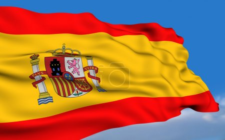 Photo for Spanish Flag waving on wind Please see all series in my portfolio. - Royalty Free Image