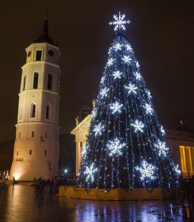 Photo pour Ville arbre de Noël, vilnius, Lituanie - image libre de droit