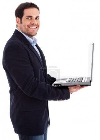 Young professional with a laptop