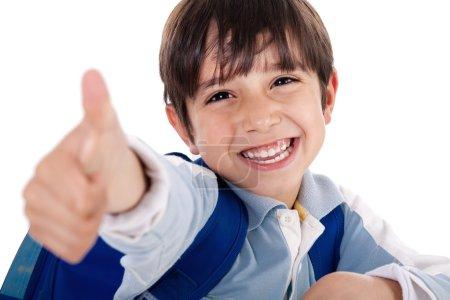 Cute boy showing ok sign