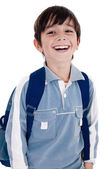 Young little boy laughing happily