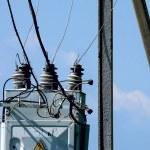 An electricity. An electric main. Rural. Power lin...