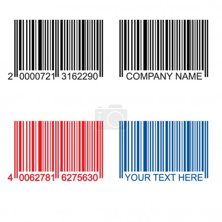 Colored barcodes