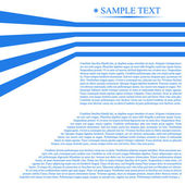 Blue background with text. Vector illust