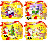 Set of 4 fanny Christmas cards
