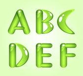 Green shiny alphabet Part 1