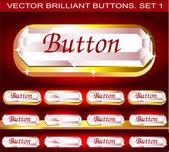 Vector brilliant buttons Set 1