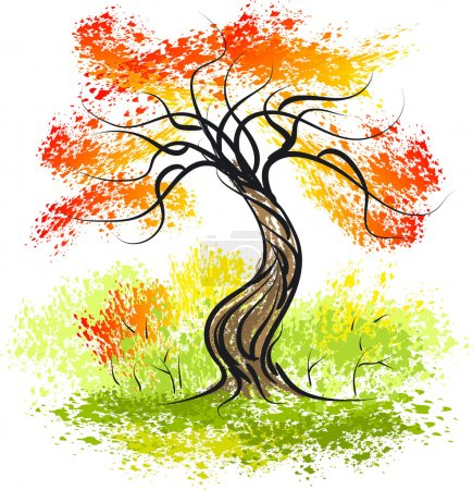 Illustration for Autumn tree - Royalty Free Image